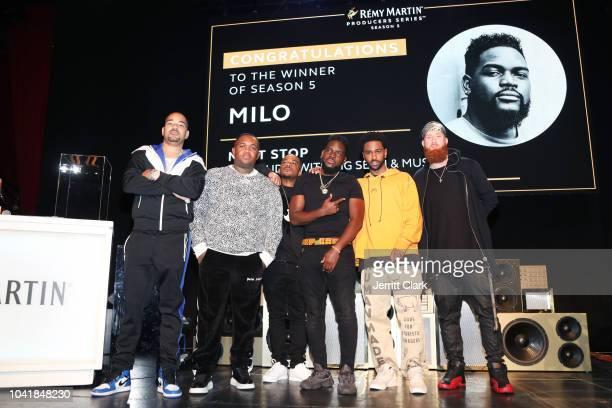 DJ Envy Mustard DJ Mano Milo and DJ AOh attend Remy Martin Crowns the Winner of Producers Series Season 5 with Big Sean Mustard on September 26 2018...