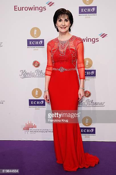 Enya attends the Koenig Pilsener At Echo Award 2016 on April 07 2016 in Berlin Germany