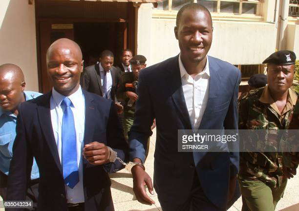 enya Medical Practitioners and Dentists Union's Secretary General Dr Ouma Oluga and Chairman Dr Samuel Oroko and Dr Allan Ochanji are led away in...