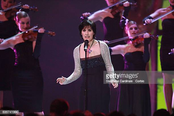 Enya performs on stage during the World Music Awards 2006 held at the Earls Court Arena in central London