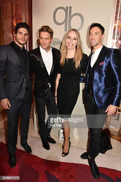 Enzo Ambrosini Pierre Barb Tonya Kinzinger and Maxime Dereymez attend Patrick Boffa 2017 Collection Fashion Show at Plaza Athenee on December 8 2016...