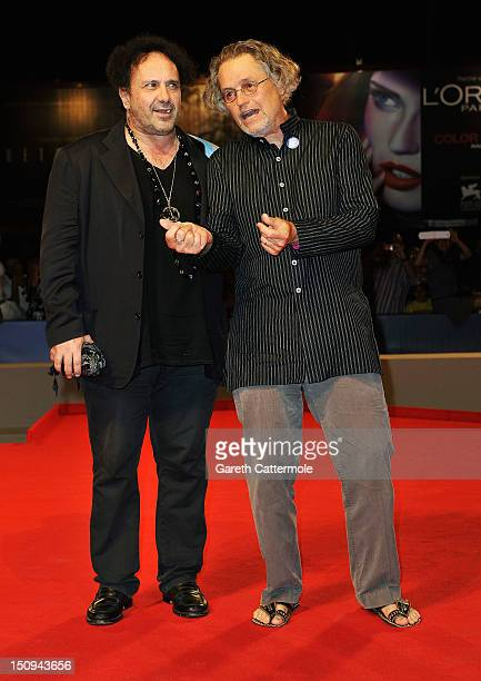 Enzo Avitabile and director Jonathan Demme attend the Enzo Avitabile Music Life Premiere during the 69th Venice International Film Festival at...