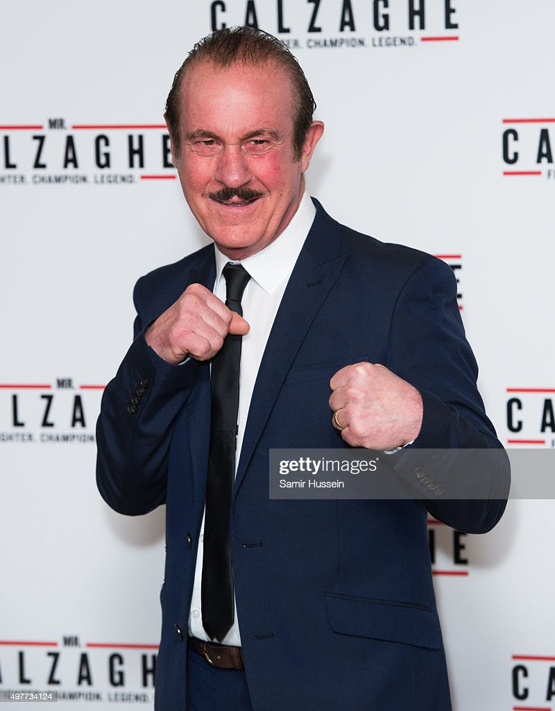 Enzo Calzaghe attends the UK Gala Screening of 'Mr Calzaghe' at May Fair Hotel on November 18, 2015 in London, England.