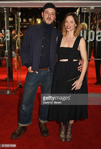 Enzo Cilenti and Sienna Guillory attend the 'Free Fire' Closing Night Gala during the 60th BFI London Film Festival at Odeon Leicester Square on...