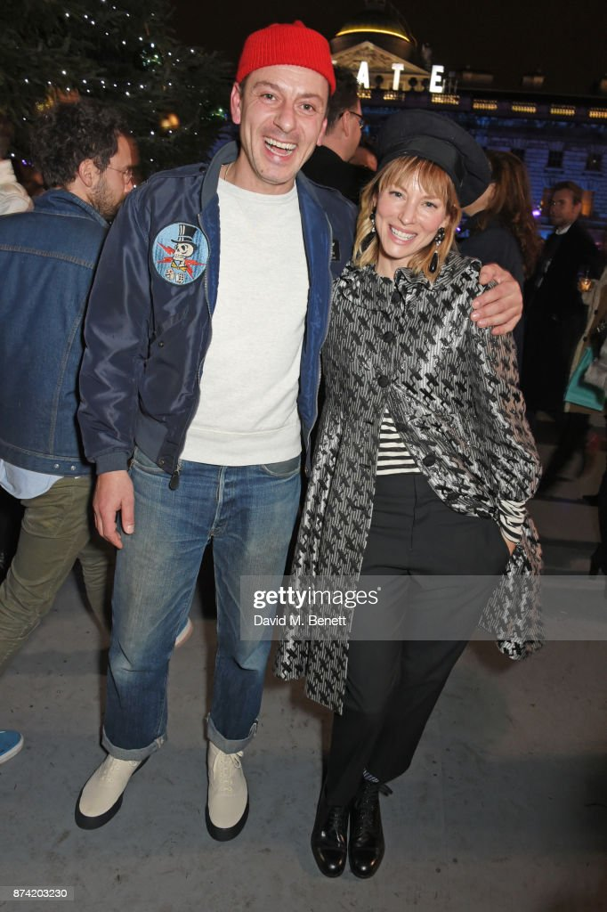 Enzo Cilenti (L) and Sienna Guillory attend the opening party of Skate at Somerset House with Fortnum & Mason on November 14, 2017 in London, England. London's favourite festive destination opens at Somerset House on Wednesday 15th November and runs until Sunday 14th January 2018.