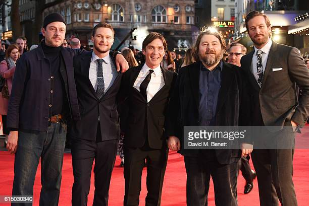 Enzo Cilenti, Jack Reynor, Cillian Murphy, director Ben Wheatley and Armie Hammer attend the 'Free Fire' Closing Night Gala during the 60th BFI...