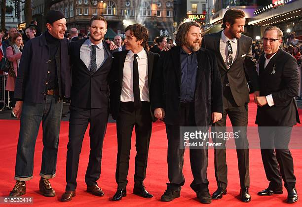 Enzo Cilenti, Jack Reynor, Cillian Murphy, director Ben Wheatley, Armie Hammer and Michael Smiley attend the 'Free Fire' Closing Night Gala during...