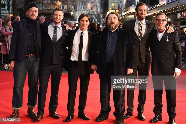 Enzo Cilenti Jack Reynor Cillian Murphy director Ben Wheatley Armie Hammer and Michael Smiley attend the 'Free Fire' Closing Night Gala during the...