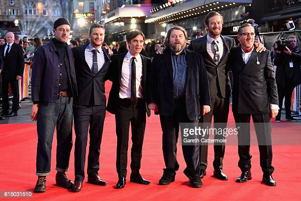 Enzo Cilenti Jack Reynor Cillian Murphy Director Ben Wheatley Armie Hammer and Michael Smiley attend the 'Free Fire' Closing Night Gala screening...