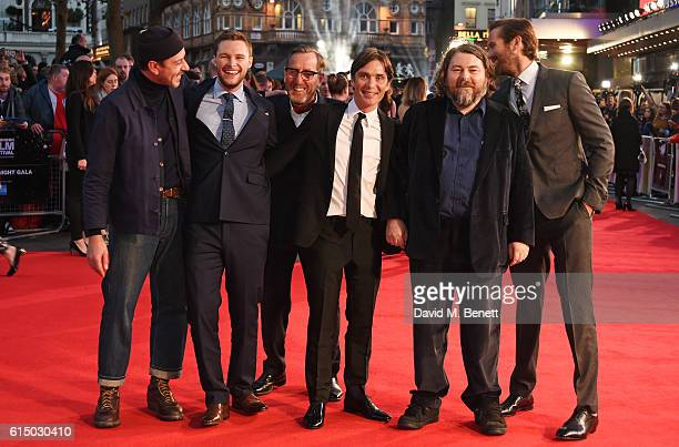 Enzo Cilenti, Jack Reynor, Michael Smiley, Cillian Murphy, director Ben Wheatley and Armie Hammer attend the 'Free Fire' Closing Night Gala during...