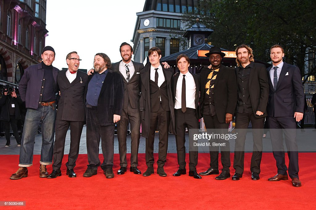 Enzo Cilenti, Michael Smiley, director Ben Wheatley, Armie Hammer, Sam Riley, Cillian Murphy, Babou Ceesay, Sharlto Copley and Jack Reynor attend the 'Free Fire' Closing Night Gala during the 60th BFI London Film Festival at Odeon Leicester Square on October 16, 2016 in London, England.