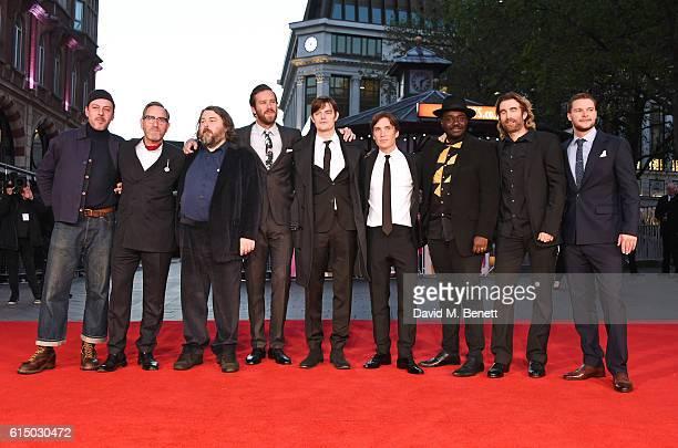 Enzo Cilenti, Michael Smiley, director Ben Wheatley, Armie Hammer, Sam Riley, Cillian Murphy, Babou Ceesay, Sharlto Copley and Jack Reynor attend the...