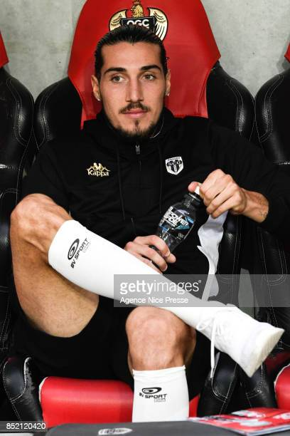Enzo Crivelli of Angers during the Ligue 1 match between OGC Nice and Angers SCO at Allianz Riviera on September 23 2017 in Nice