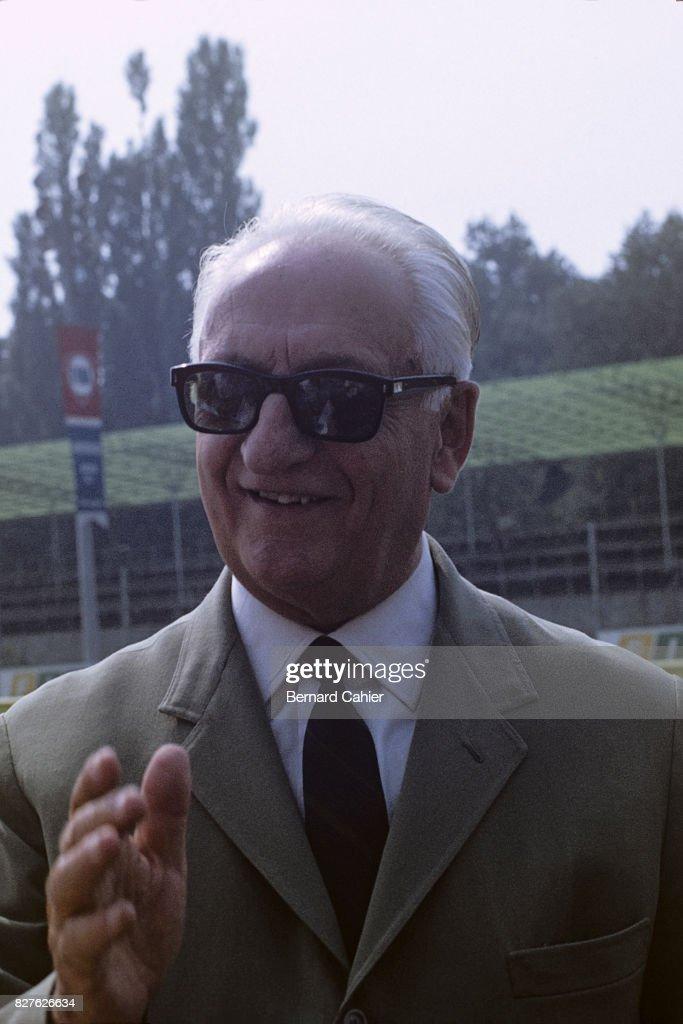 Enzo Ferrari, Grand Prix Of Italy : News Photo