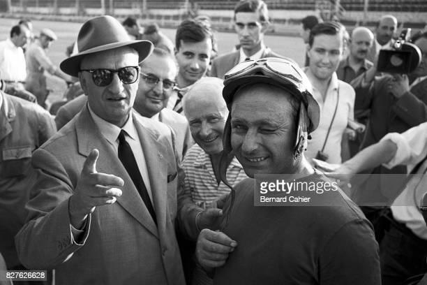 Enzo Ferrari, Juan Manuel Fangio, Grand Prix of Italy, Monza, 02 September 1956. Enzo Ferrari and Juan Manuel Fangio, two immense characters who had...