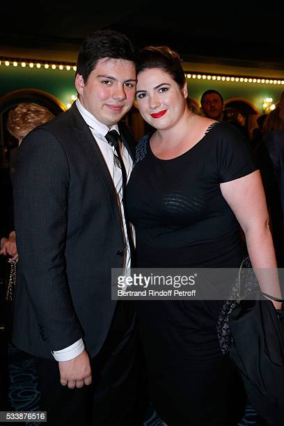 Enzo Gaccio and his sister Charlotte Gaccio attend La 28eme Nuit des Molieres on May 23 2016 in Paris France