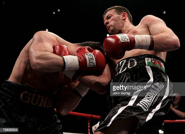 Enzo Maccarinelli connects with a right uppercut against Bobby Gunn during their WBO cruiserweight title fight at the Milennium Stadium on April 7...