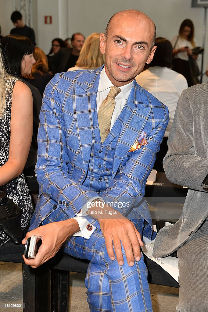 Enzo Miccio attends the Sportmax show as a part of Milan Fashion Week Womenswear Spring/Summer 2014 on September 20, 2013 in Milan, Italy.