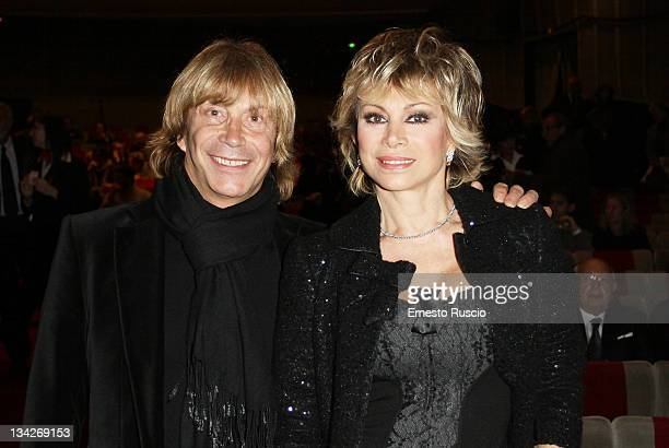 Enzo Paolo Turchi and Carmen Russo attend Il Vizietto La Cage aux Folles Opening Night at Teatro Sistina on November 29 2011 in Rome Italy