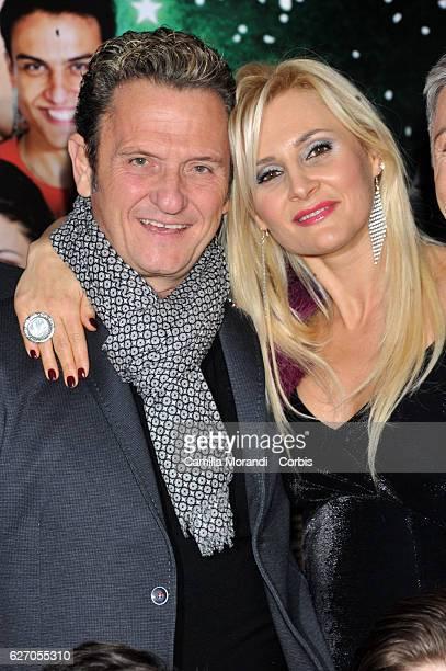 Enzo Salvi and Loredana De Nardis attend 'Un Natale Al Sud' Red Carpet In Rome on December 1, 2016 in Rome, Italy.