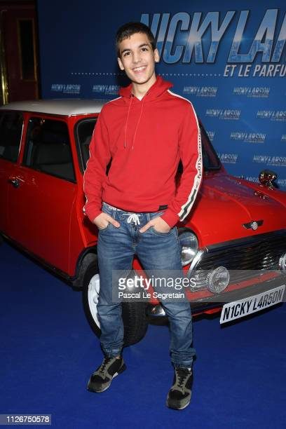 Enzo Tomasini attends The Nicky Larson Et Le Parfum De Cupidon Premiere February 01 2019 in Paris France