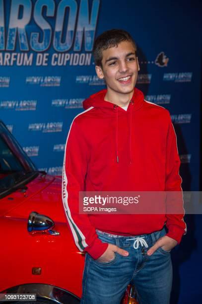 Enzo Tomasini attends the premiere of Nicky Larson Et Le Parfum De Cupidon at the Grand Rex in Paris