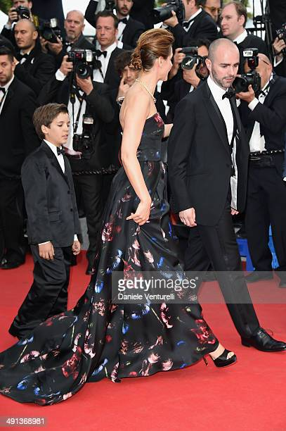 Enzo Tomasini Clotilde Courau and Julien Arruti attend the How To Train Your Dragon 2 Premiere at the 67th Annual Cannes Film Festival on May 16 2014...