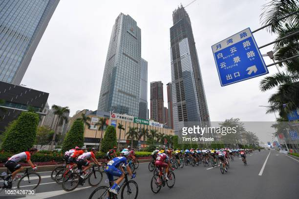 Enzo Wouters of Belgium and Team Lotto Soudal / Maximilian Schachmann of Germany and Team QuickStep Floors / Tony Martin of Germany and Team...