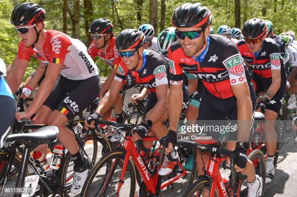 Enzo Wouters of Belgium and Team Lotto Soudal / Richie Porte ofAustralia and Team BMC Racing Team / Danilo Wyss of Swiss and Team BMC Racing Team...