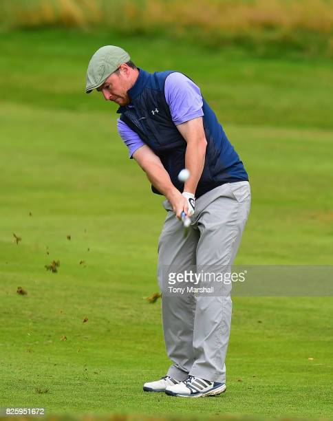 Eoin Arthurs of Kinsealy Grange Golf Academy plays his second shot on the 1st fairway during Day Two of the Galvin Green PGA Assistants' Championship...