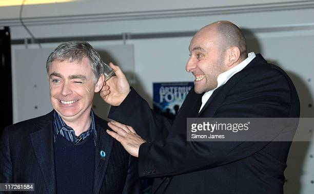 Eoin Colfer and Troy stuntman Billy Worth breaking a glass over his head