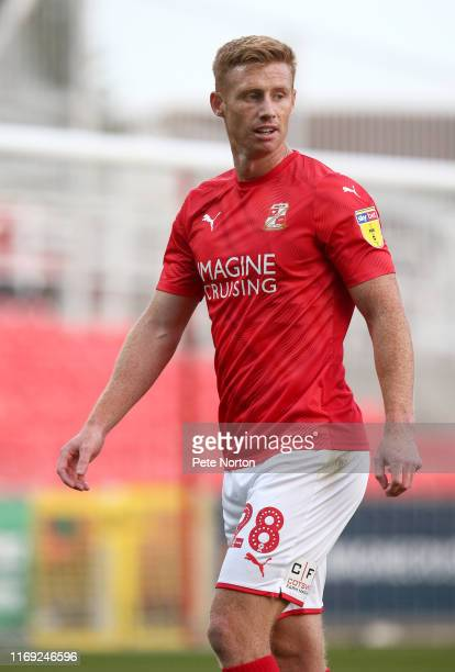 Eoin Doyle of Swindon Town in action during the Sky Bet League Two match between Swindon Town and Northampton Town at The County Ground on August 20...
