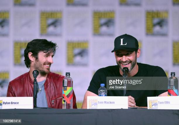 Eoin Macken and Tom Ellis attend Entertainment Weekly Brave Warriors panel during San Diego ComicCon 2018 at the San Diego Convention Center on July...