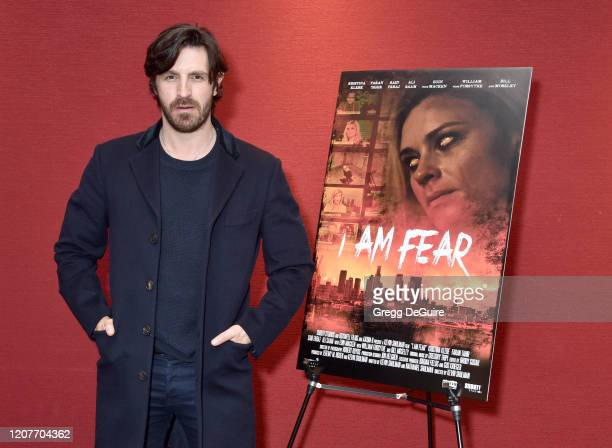 """Eoin Macken attends the Los Angeles Premiere of Roxwell Films """"I Am Fear"""" at Laemmle Monica Film Center on February 20 2020 in Santa Monica California"""
