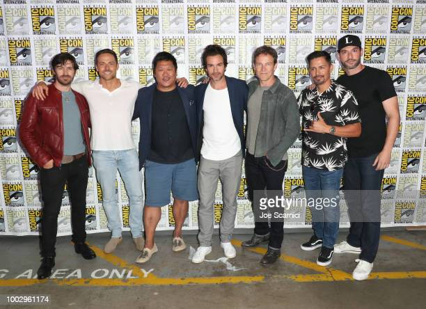 Eoin Macken Dylan Bruce Benedict Wong Santiago Cabrera Stephen Moyer Jay Hernandez and Tom Ellis attend Entertainment Weekly Brave Warriors panel...