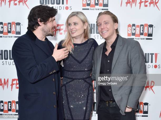 """Eoin Macken Kristina Klebe and Kevin Shulman attend the Los Angeles Premiere of Roxwell Films """"I Am Fear"""" at Laemmle Monica Film Center on February..."""
