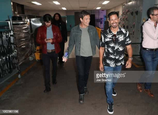 Jay Hernandez and Stephen Moyer attend Entertainment Weekly 'Brave Warriors' panel during San Diego ComicCon 2018 at the San Diego Convention Center...