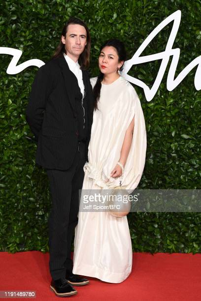 Eoin Mcloughlin and Simone Rocha arrives at The Fashion Awards 2019 held at Royal Albert Hall on December 02 2019 in London England