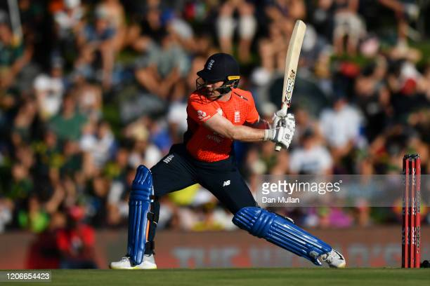 Eoin Morgan of England during the Third T20 International match between South Africa and England at Supersport Park on February 16 2020 in Centurion...