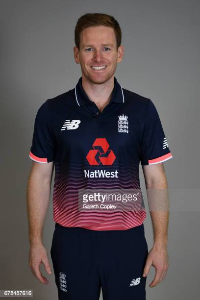 Eoin Morgan of England poses for a portrait at The Brightside Ground on May 4 2017 in Bristol England