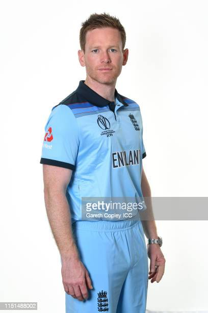 Eoin Morgan of England poses for a portrait prior to the ICC Cricket World Cup 2019 at Ageas Bowl on May 24 2019 in Southampton England