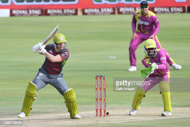Eoin Morgan of the Tshwane Spartans during the Mzansi Super League match between Tshwane Spartans and Paarl Rocks at SuperSport Park on December 05...