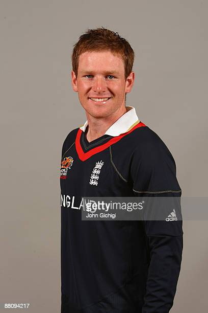 Eoin Morgan poses for a portrait prior to the ICC World Twenty20 at Hart Hotel on June 1 2009 in Nottingham England