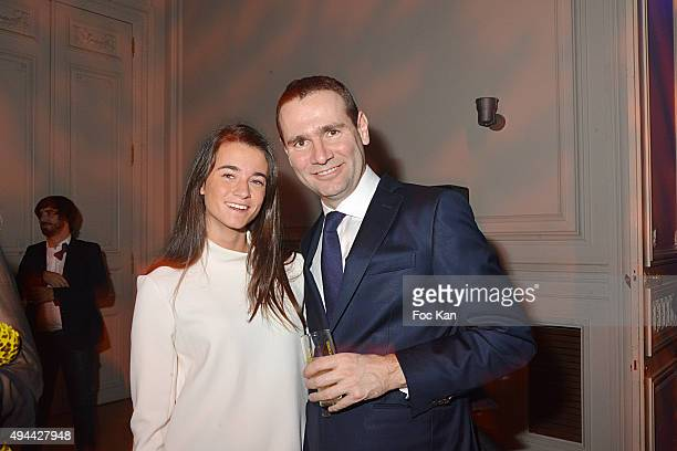 Eole Peyron Ricard and Alexandre Ricard attend 'Le Bal Jaune 2015' Dinner Party At Hotel Salomon de Rothschild during FIAC on October 23 2015 in...