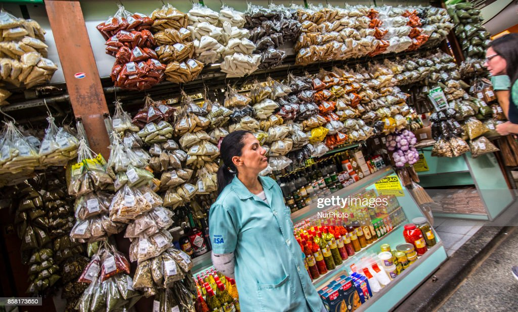 eople shop at the Municipal Market of Sao Paulo in downtown Sao Paulo, Brazil October 5, 2017. After the economy advanced in the second quarter, financial market economists reinforced the positive outlook for the Brazilian economy. In 2017, the estimate for the Gross Domestic Product (GDP) rose from 0.39% to 0.50%. The estimate for inflation this year fell again, from 3.45% to 3.38%. In 2018, the bet is that inflation will fall to 4.18%, compared to an earlier projection of 4.20%.