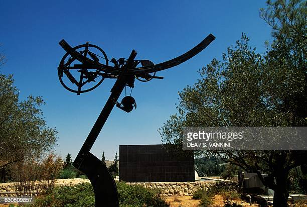Eos XK3 by Jean Tinguely, sculpture in the Billy Rose garden, Israel museum, Jerusalem, Israel.