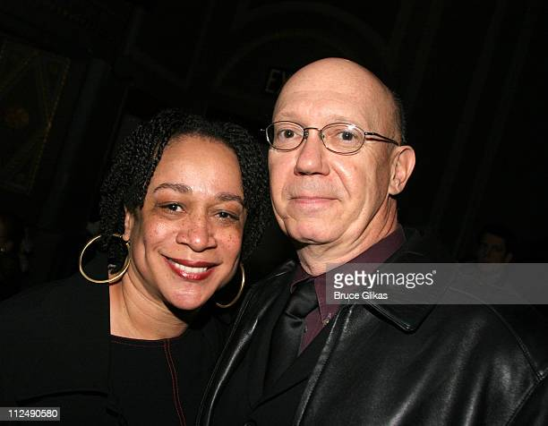 S Epatha Merkerson and Dann Florek during Jerry Orbach Memorial Celebration at The Richard Rogers Theater in New York City New York United States