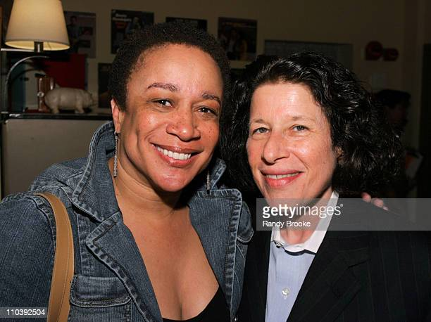 S Epatha Merkerson and Fran Lebowitz during Birdie Blue OffBroadway Opening Night After Party at Spanky's BBQ in New York City New York United States