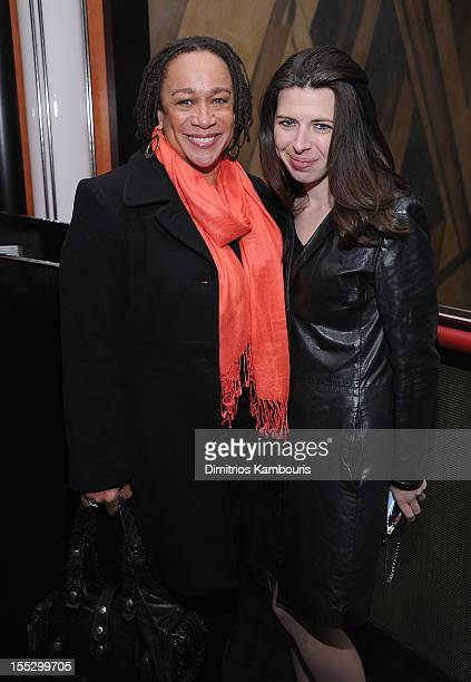 S Epatha Merkerson and Heather Matarazzo attend the Cinema Society And Sandro Present A Special Screening Of Starlet After Party at The Lambs Club on...