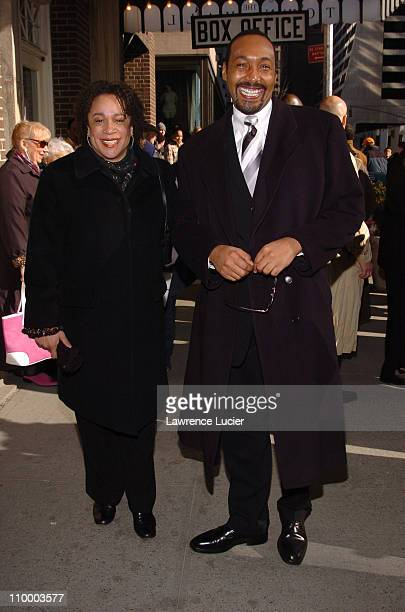 S Epatha Merkerson and Jesse L Martin during Woodie King Jr's New Federal Theater 35th Anniversary Gala Benefit at Town Hall in New York City New...